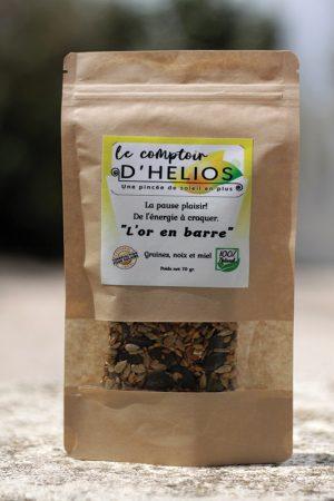 Barre énergétique à base de graines et noix torréfiées